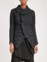 ISSEY MIYAKE Crack pleated jacket ~ black statement jackets