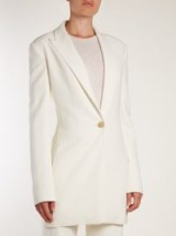 THE ROW Jaymin peak-lapel single-breasted blazer | ivory suit blazers
