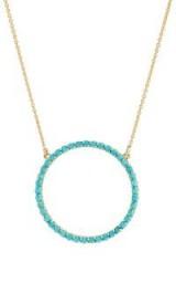 JENNIFER MEYER Open Circle Turquoise Necklace ~ blue stone necklaces