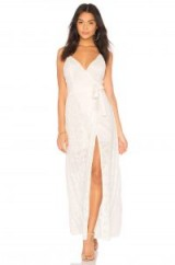 Jen's Pirate Booty EYELET JANA WRAP DRESS | long white strappy plunging dresses