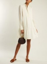 A.P.C. Jones long-sleeved striped crepe dress ~ boho chic