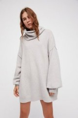 Free People Keep A Secret Cashmere Tunic – soft slouchy sweater dresses – knitted tunics