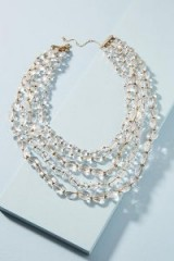Beth Ward Lumi Layered Necklace / clear beaded statement nacklaces