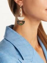 ISABEL MARANT Ma Vallee resin earrings ~ statement jewellery