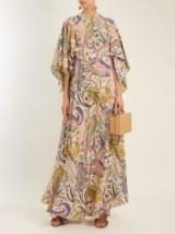 ETRO Marte silk crepe de Chine gown ~ paisley print, mandarin collar gowns