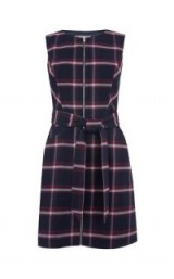 OASIS MERLOT CHECK DRESS / check print dresses