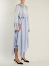 ROKSANDA Micha contrast-panel silk-blend shirtdress ~ light-blue panelled shirt dresses