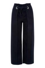 Topshop MOTO Indigo Cropped Wide Leg Jeans