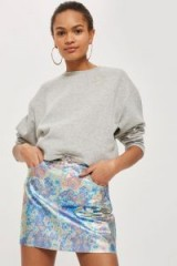 TOPSHOP MOTO Metallic Mini Skirt / shiny skirts