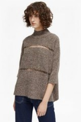 FRENCH CONNECTION MOZART MARL HIGH NECK JUMPER DARK SMOULDER