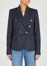 STELLA MCCARTNEY Navy double-breasted wool blazer ~ smart blue blazers