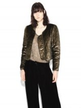 NILI LOTAN VIENNA JACKET | quilted gold metallic jackets