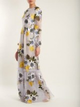 ERDEM Ora floral-embroidered silk-organza gown ~ feminine event gowns