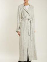 THE ROW Paycen tweed coat ~ long grey belted coats