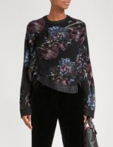 3.1 PHILLIP LIM Floral-jacquard ruched cotton-blend jumper ~ asymmetric jumpers