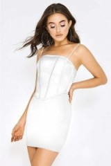 PIA MIA WHITE SATIN CORSET DRESS – strappy party dresses