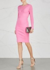 VERSACE COLLECTION Pink panelled stretch-knit dress ~ party fashion ~ fitted bodycon dresses