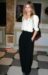 French actress Clemence Poesy – chic bohemian style