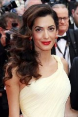 Amal Clooney event style ~ celebrity glamour ~ glamorous hair and make-up