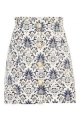 Topshop Porcelain Jacquard Mini Skirt   printed A-line skirts