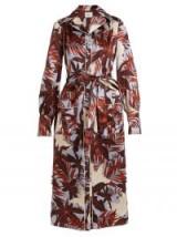 ERDEM Quenna tie-waist silk-satin shirtdress ~ luxe shirt dresses ~ pale blue and burgundy