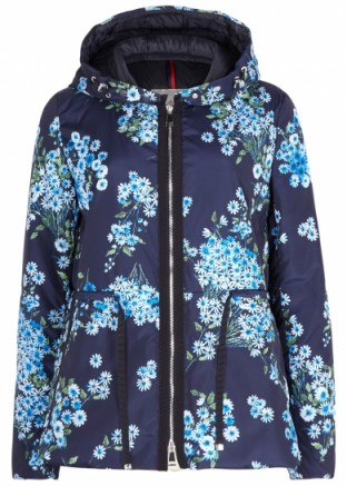 MONCLER Raief floral-print shell jacket / funnel neck jackets