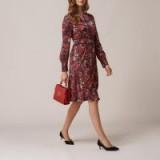L.K. BENNETT ROBYN RED FLORAL DRESS