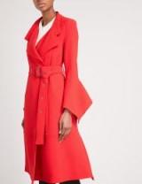 ROLAND MOURET Millington wool-crepe coat ~ stylish red coats