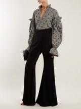JONATHAN SIMKHAI Ruffled-collar smocked gingham blouse ~ beautiful blouses ~ feminine style