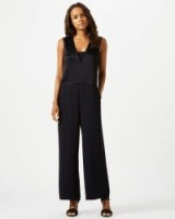 JIGSAW SATIN BACK CREPE JUMPSUIT / black jumpsuits / eveningwear