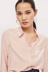 Topshop Scallop Collar Shirt | blush-pink shirts