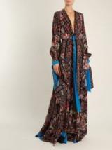 ETRO Scorpione silk crepe de Chine gown ~ floral print gowns