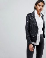 Selected Femme Studded Leather Biker Jacket ~ casual style ~ black weekend jackets
