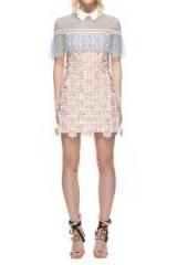 $318.00 SELF PORTRAIT 3D FLORAL CAPE DRESS