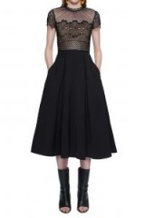 $188.00 Self Portrait Felicia Embroidered Midi Dress