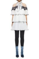 $298.00 SELF PORTRAIT MONOCHROME PLEATED EMBROIDERY DRESS
