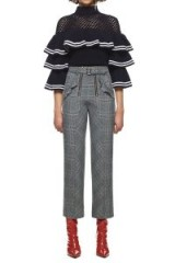 $258.00 SELF PORTRAIT STRIPED FRILL SWEATER