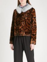 SHRIMPS Betsy leopard-print faux-fur jacket ~ animal printed jackets ~ winter luxe