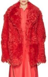 SIES MARJAN Pippa Shearling Peacoat | coral winter coats