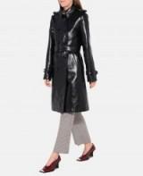 STELLA McCARTNEY Skin-Free-Skin Michaela Trench Coat ~ chic high shine coats