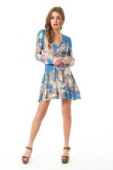 $128.00 Spell & The Gypsy Collective Blue Skies Wrap Mini Dress