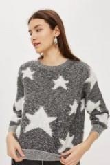 Topshop Star Pattern Jumper | monochrome patterned jumpers