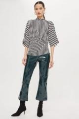 Topshop Striped Tuck Detail Top | kimono style tops