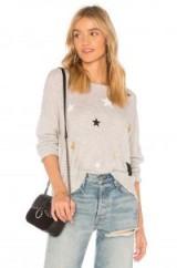 SUNDRY STARS SWEATER | grey merino wool star print sweaters
