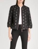 TED BAKER Ruthiee Spectacular embellished jacquard bomber jacket ~ effortless style jackets