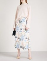 TEMPERLEY LONDON Love Potion high-rise crepe midi skirt ~ beautiful printed skirts