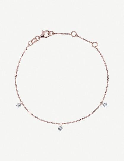THE ALKEMISTRY Triple Drilled Diamonds 18ct rose-gold and diamond bracelet / dainty bracelets / diamonds