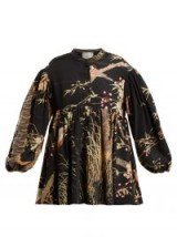 BY WALID Theresa Cherry Blossom-print silk top – printed tops – oriental style prints
