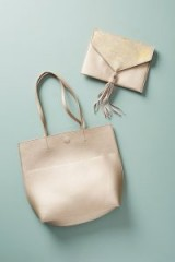 Anthropologie Thoma Clutch & Tote Bag / silver-metallic bags