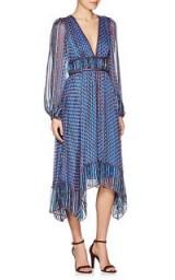 ULLA JOHNSON Amabelle Silk Chiffon Dress ~ boho chic ~ blue bohemian dresses
